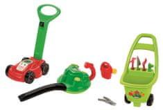 ECOIFFIER Záhradný vozík s kosačkou a odfukovačom lístia
