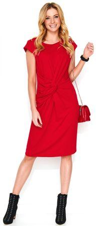 Makadamia dámske šaty 46 červená