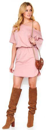 Makadamia dámske šaty 40 ružová