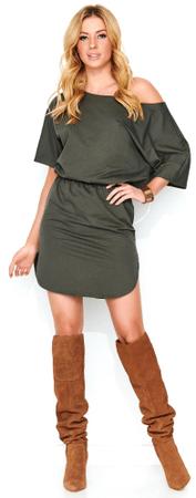 Makadamia dámske šaty 38 khaki
