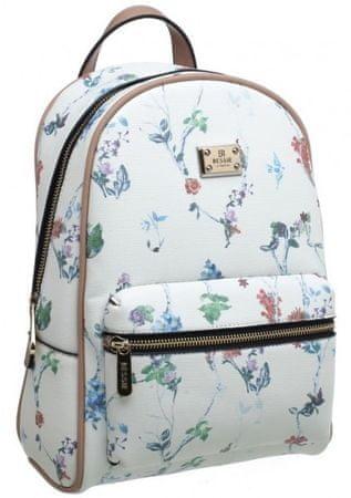 Bessie London damski plecak biały
