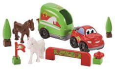 Ecoiffier Abrick Auto s přívěsem pro koně