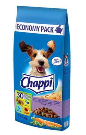 Chappi suha hrana za odrasle pse, govedina, 13,5 kg