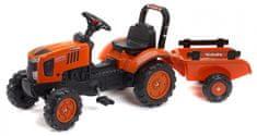 Falk Kubota traktor M7171 utánfutóval, narancssárga