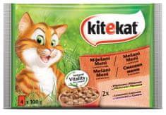 Kitekat mokra hrana za mačke, mešani meni, 4 x 100 g