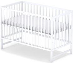 Sun Baby Drewniane łóżeczko dziecięce Sky Classic Białe