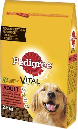 Pedigree suha hrana za odrasle pse, perutnina/zelenjava, 2,6 kg