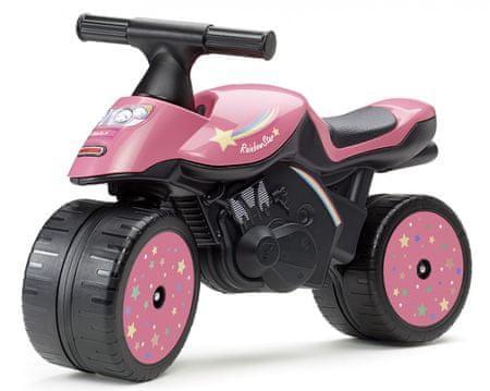 Falk Futókerékpár - Rainbow star motorkerékpár, rózsaszín