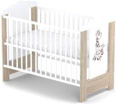 Sun Baby Drewniane łóżeczko dziecięce Baby Sky - ELLA
