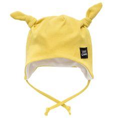 PINOKIO Chlapecká čepice Funny Dog s oušky - žlutá