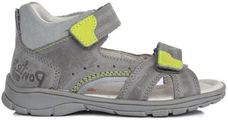Ponte 20 chlapecké kožené sandály 22 šedá