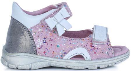 4896aa338274 Ponte 20 dievčenské kožené sandále 22 ružová