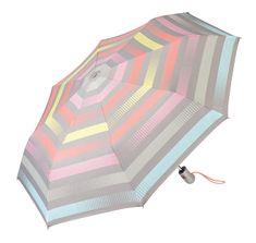 Esprit Női esernyőEasymatic Light Summer Stripes Light Pastel