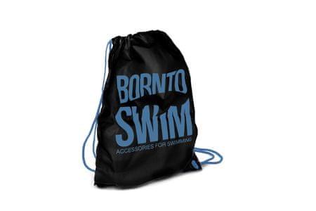 Born To Swim Sportovní černý stahovací vak - černá/modrá