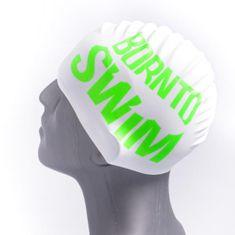 Born To Swim Silikonová plavecká čepice bílá