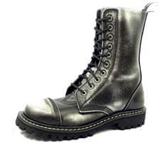 STEEL boty 10 bílé - Dírkové