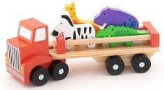 Trefl Auto nákladné safari drevené 26,5cm