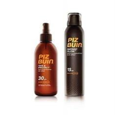 PizBuin Darčeková sada Ochranný olej v spreji urýchľujúci proces opaľovania Tan & Protect SPF 30 150 ml + Op