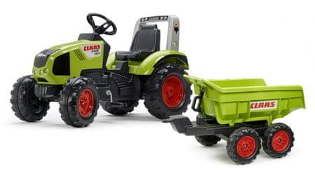Falk Claas Axos 330 pedálos traktor maxi platóval