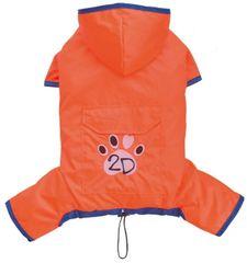 Doggy Dolly dežni plašč 4 tačke, oranžen