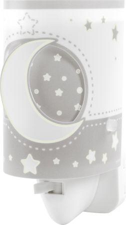 Dalber Éjjeli lámpa gyerekeknek LED Holdfény 63235LE, szürke