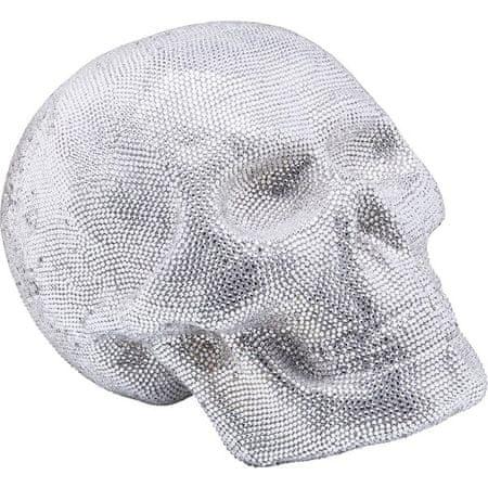 KARE Dekorativní figurka Crystal Skull Silver - velká