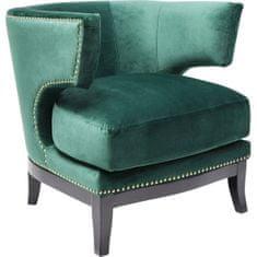 KARE Křeslo Art Deco - zelené