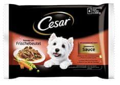 Cesar mokra hrana za pse Fresh Selection, v omaki, 4 x 100 g