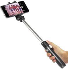 SBS Bezdrátová selfie tyč se stativem a dálkovým ovládáním TESELFITRIPODBT, černá