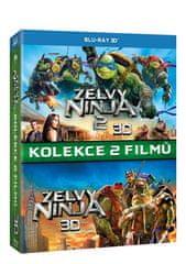 Želvy Ninja - Kolekce 1+2 3D+2D (3BD) - Blu-ray