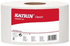Papír toaletní JUMBO Katrin Classic 180 mm, 2-vrstvý, bílý / 12 ks