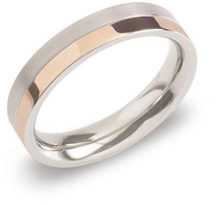 Boccia Titanium Pozlačen prstan iz titana 0129-07 (Vezje 52 mm)