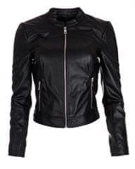 Vero Moda Ever Short Faux Leather Jacket Black női dzseki