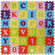 Teddies Penové puzzle abeceda a čísla 36ks