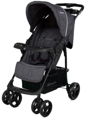 BabyGO wózek spacerowy Basket Dark Grey Melange