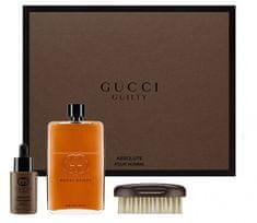 Gucci Guilty Absolute - EDP 90 ml  + olej na vousy 30 ml + kartáč na vousy