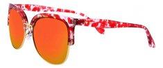 Clueless damskie okulary przeciwsłoneczne czerwony