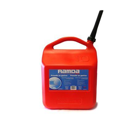 Ramda spremnik za gorivo, crveni, s nastavkom za nalijevanje, 10L