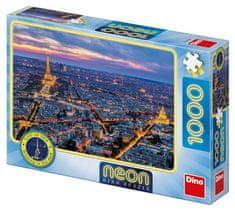 DINO Paríž v noci Neon 1000 dielikov