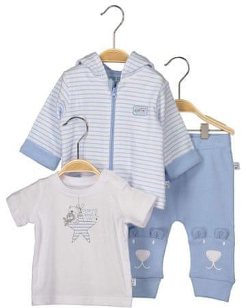 Blue Seven chłopięcy komplet koszulki, bluzy i spodni dresowych 56 niebieski