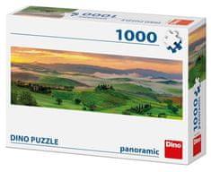 DINO Západ slnka Panoramic 1000 dielikov - rozbalené
