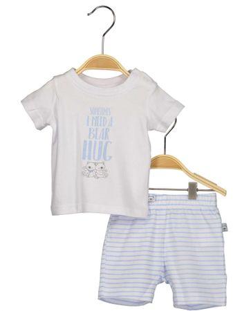 Blue Seven chlapčenský dvojkomplet trička a kraťasov 56 modrá