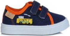 D-D-step fiú textil sportcipő mozdonnyal