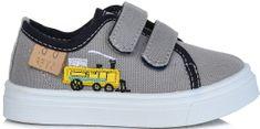 D-D-step chlapecké plátěné tenisky s lokomotivou
