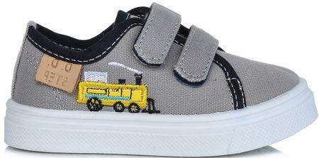 D-D-step fiú textil sportcipő mozdonnyal 29 szürke