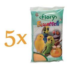 Fiory biskvit za ptice, med, 5 x 35 g
