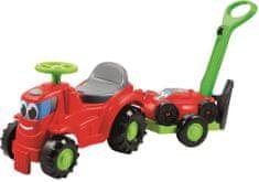 ECOIFFIER Lábbal hajtós Traktor emelővel és fűnyíróval
