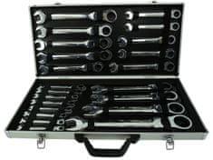 GEKO Sada ráčnových klíčů s kloubem, 22ks, 6-32 mm