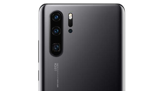 Huawei P30 Pro, širokouhlý štvornásobný zadný fotoaparát, veľké rozlíšenie, superzoom, desaťnásobné priblíženie, umelá inteligencia, dobre fotí v noci.