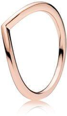 Pandora Minimalistický bronzový prsteň 186314 striebro 925/1000